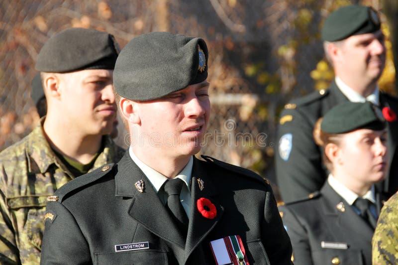 Солдаты канадцев стоковое фото