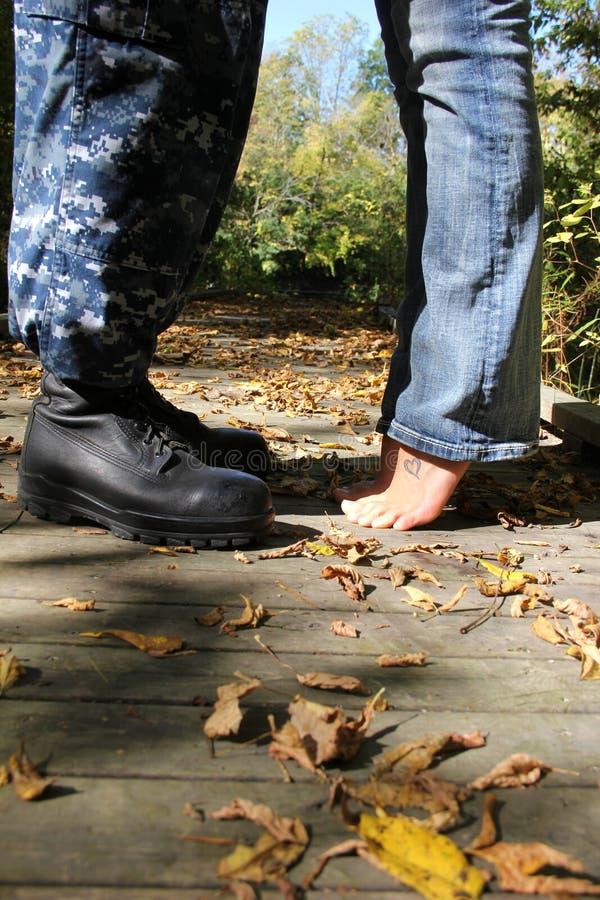 Солдат & его жена стоковое изображение rf