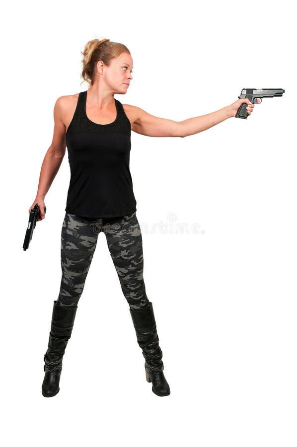Солдат женщины стоковая фотография rf