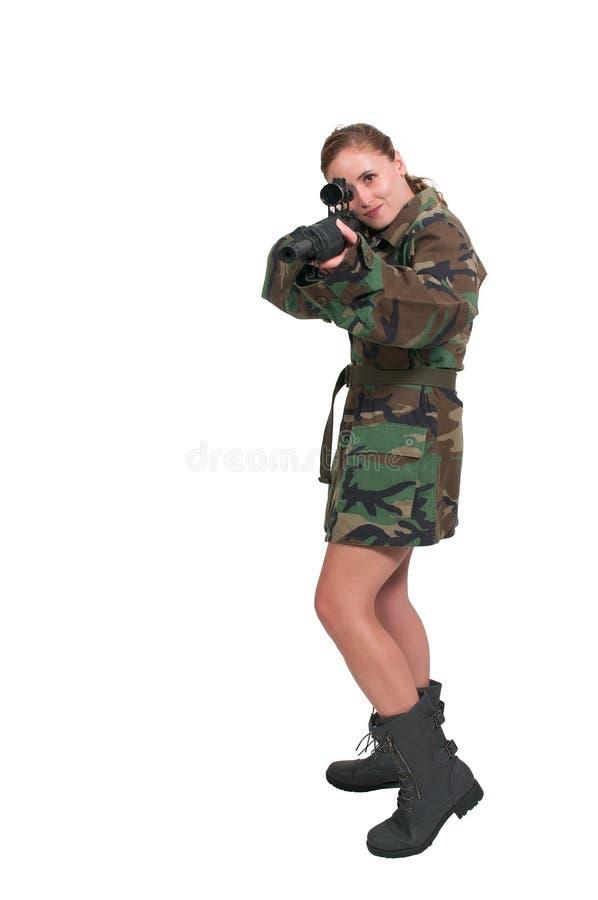 Солдат женщины стоковое изображение rf