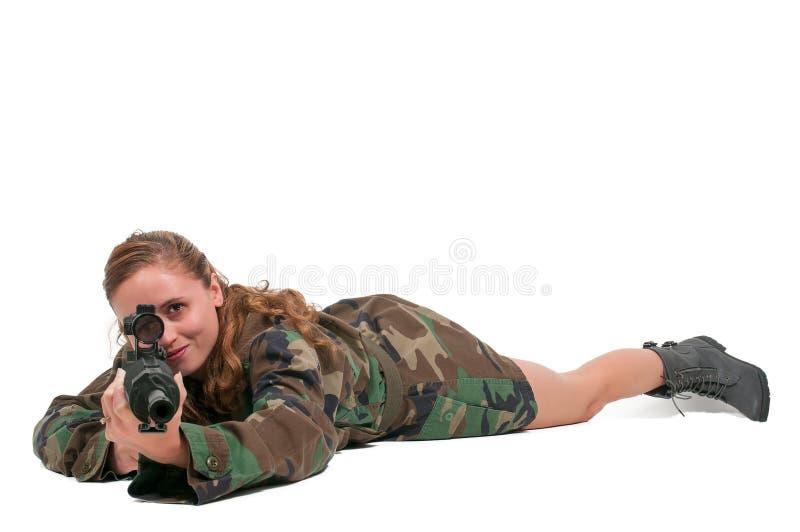 Солдат женщины стоковые фото