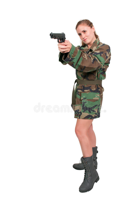 Солдат женщины стоковые изображения