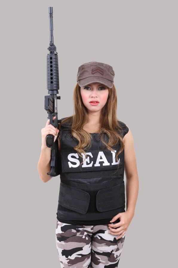 Солдат женщины стоковые фотографии rf