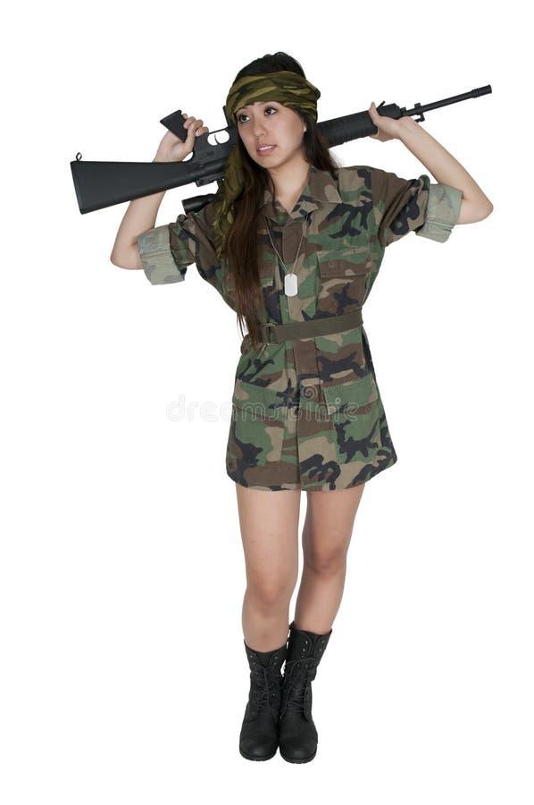 Солдат женщины стоковая фотография