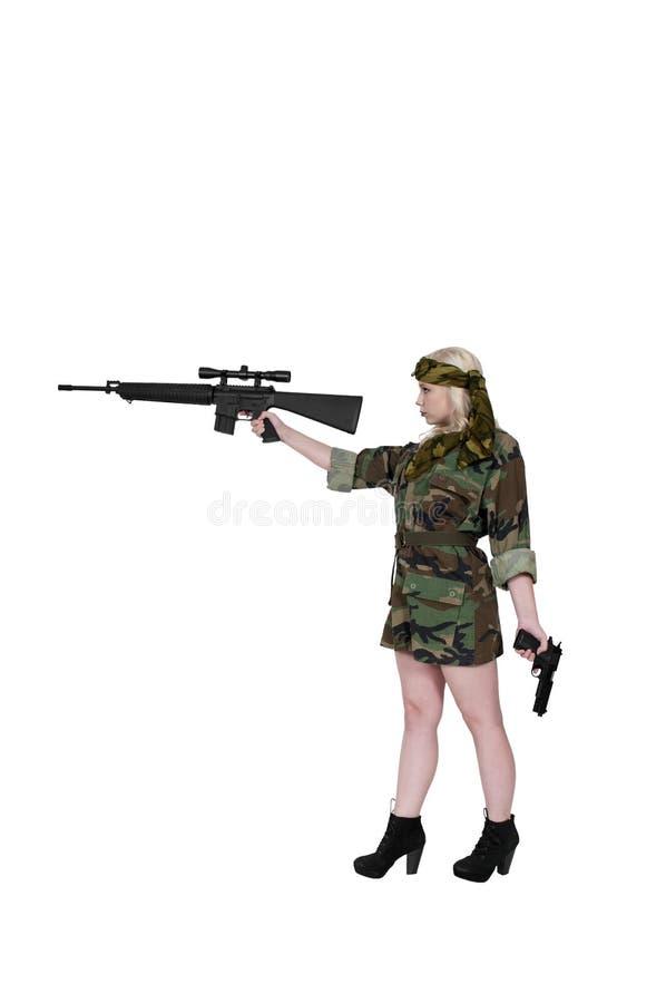 Солдат женщины стоковые изображения rf