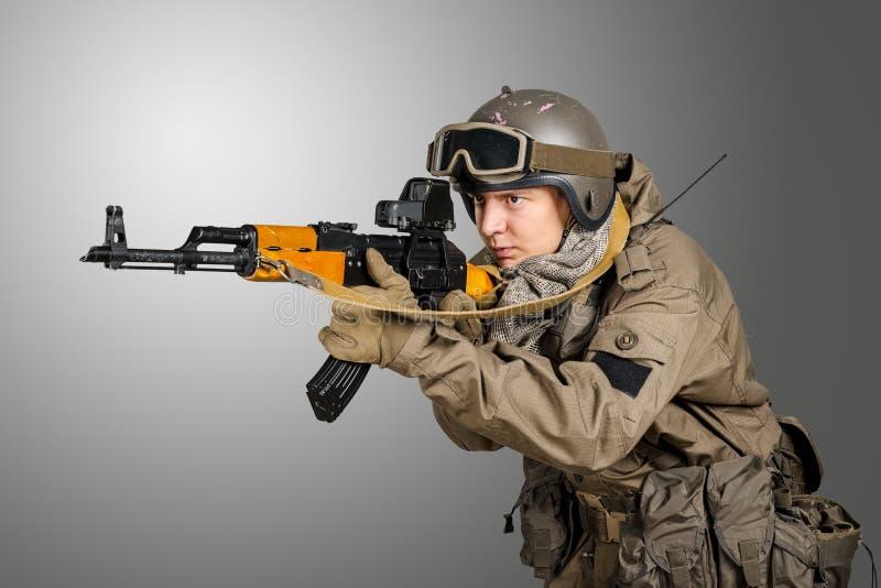 Солдат сил специального назначения стоковая фотография