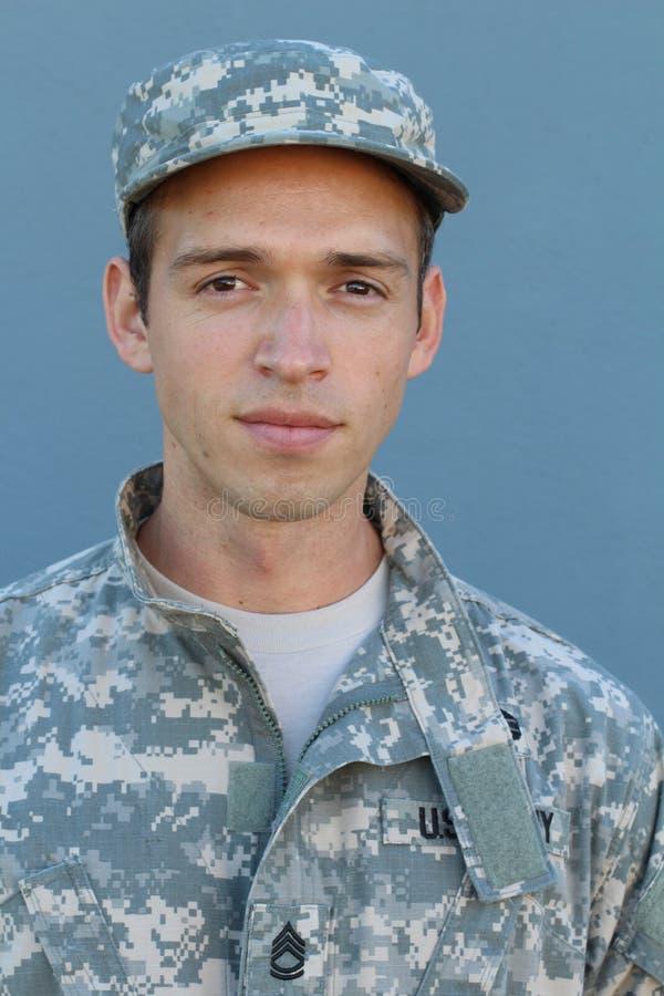 Солдат США с PTSD стоковое изображение rf