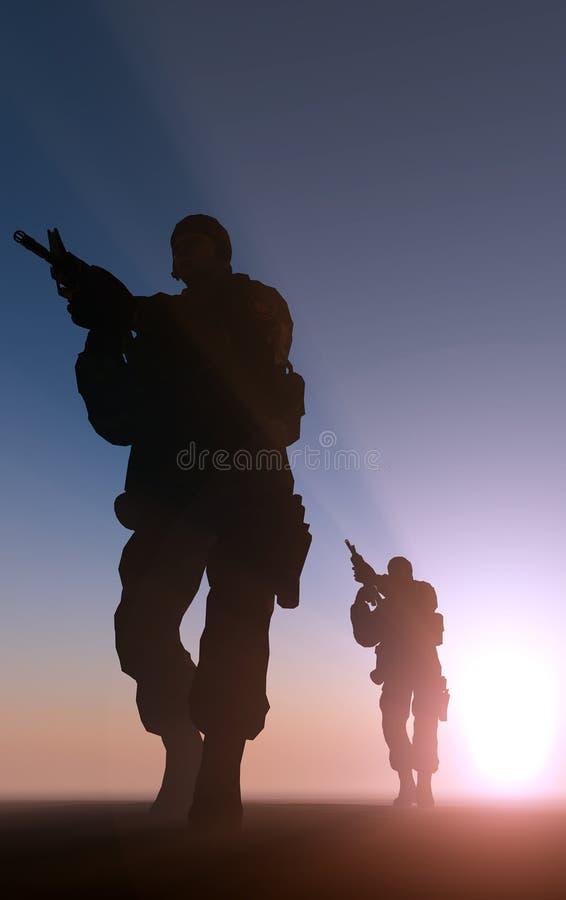Солдат иллюстрация вектора