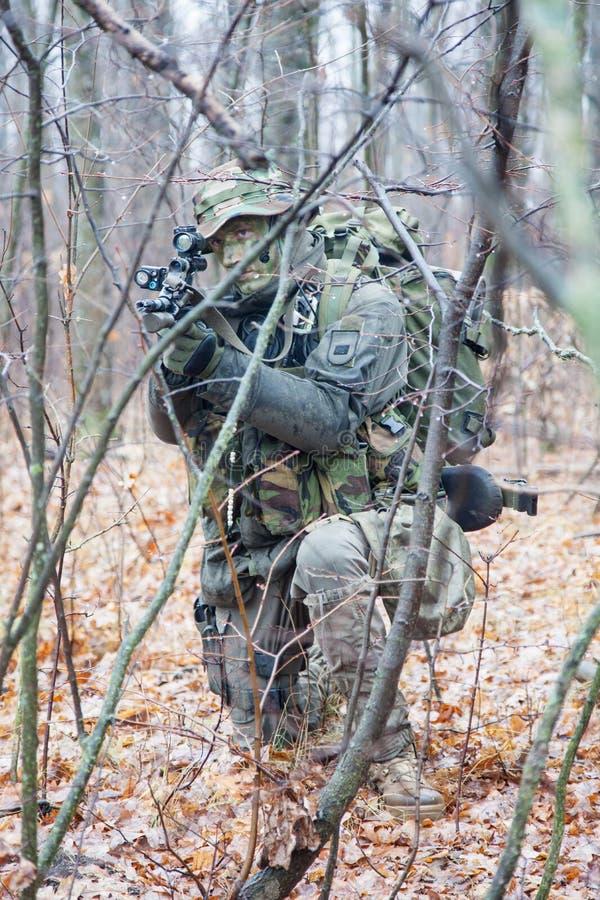 Солдат Jagdkommando стоковая фотография rf