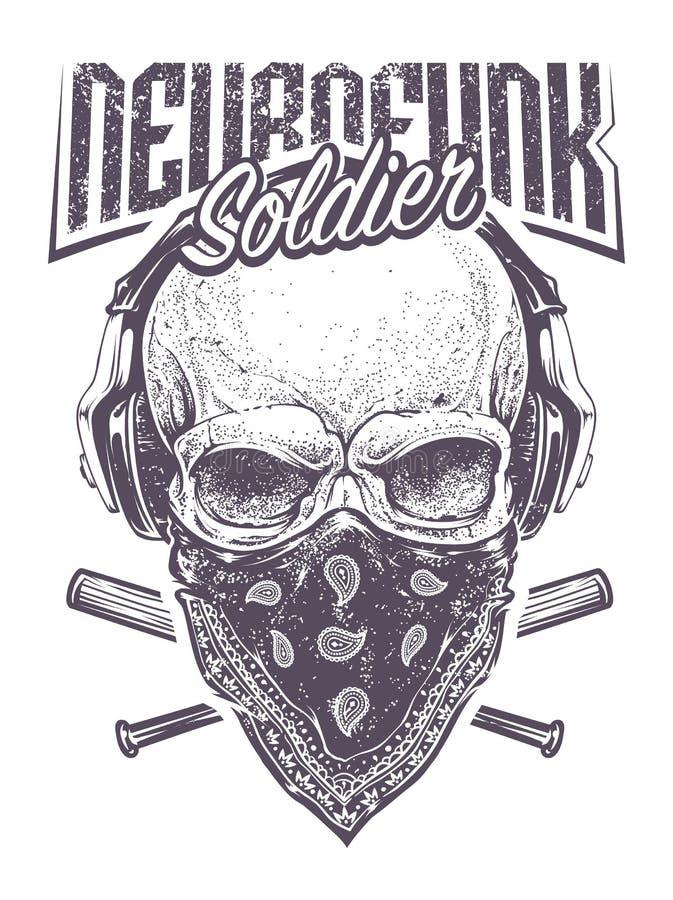 Солдат Neurofunk бесплатная иллюстрация