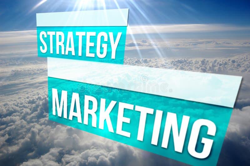 Содержимая маркетинговая стратегия над облаками стоковая фотография rf