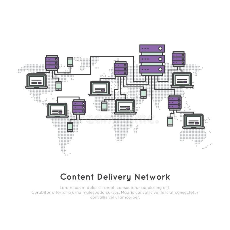 Содержимая сеть поставки иллюстрация штока