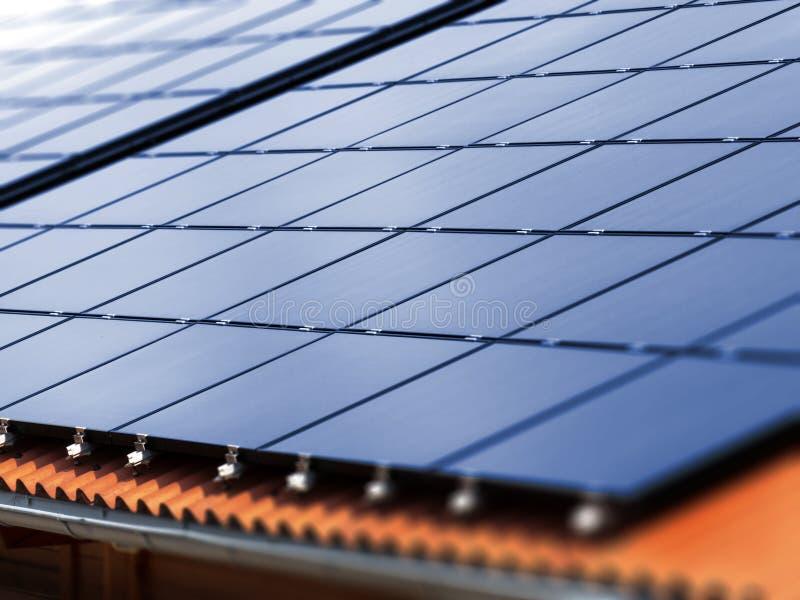 Солнечная крыша стоковое изображение rf