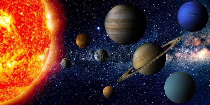 Солнечная система иллюстрация вектора
