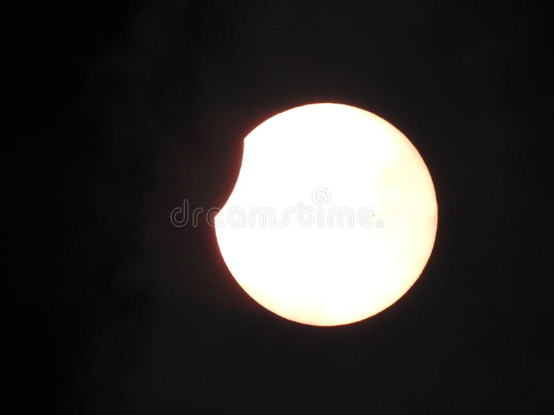 Солнечное затмение 2017 стоковые фото
