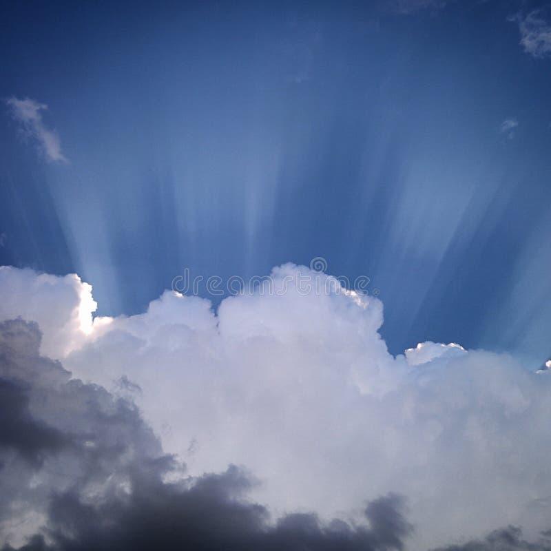 Солнечность над облаками стоковое фото