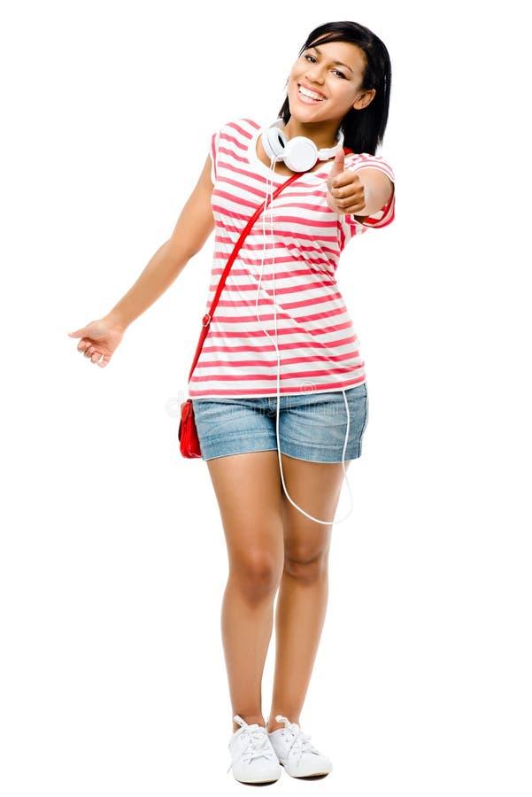 Солнечные очки сексуальной женщины смешанной гонки нося изолированные на белом backg стоковое фото rf