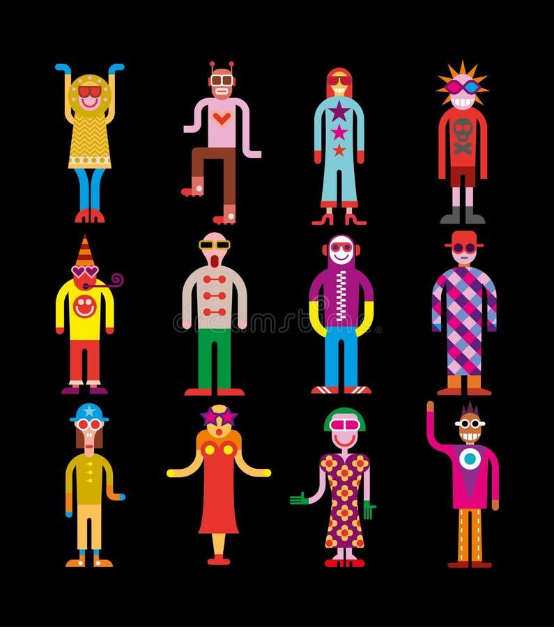 Солнечные очки людей нося - иллюстрация вектора иллюстрация штока