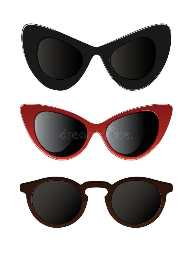 Солнечные очки иллюстрация вектора