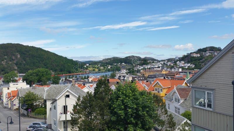 Солнечный день в Egersund стоковые фото