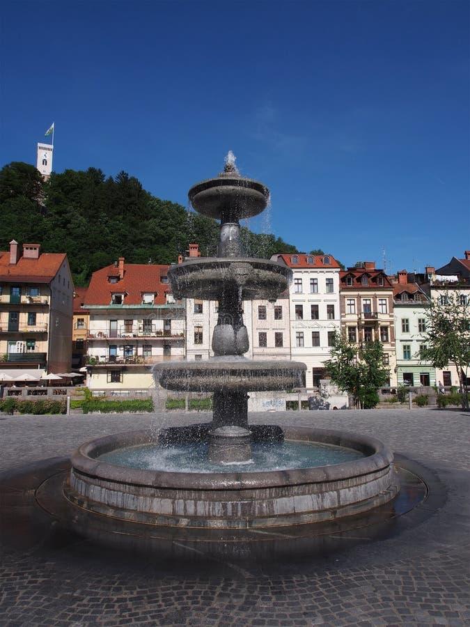 Любляна, столица Словения, Европы стоковая фотография