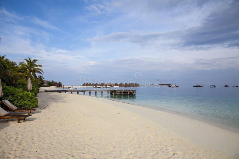 Солнечный пляж стоковая фотография
