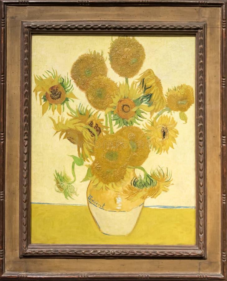 Солнцецветы, Винсент ван Гог стоковая фотография