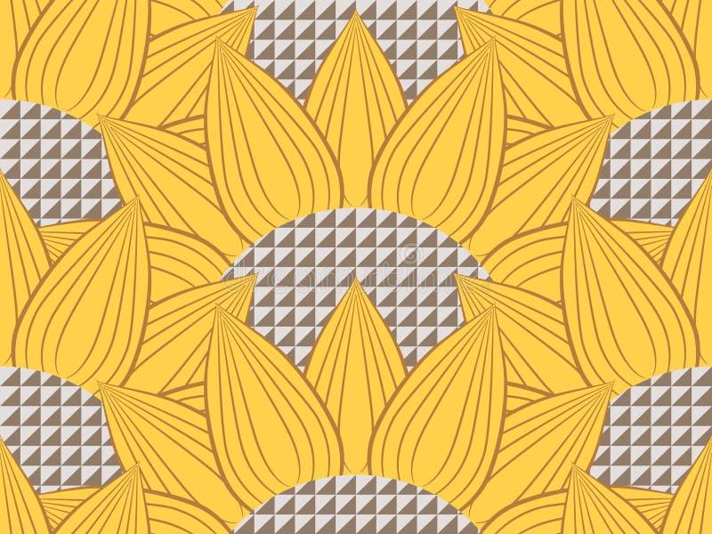 Солнцецветы и технология иллюстрация штока