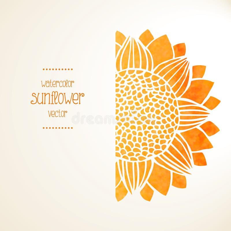 Солнцецвет акварели Предпосылка вектора бесплатная иллюстрация