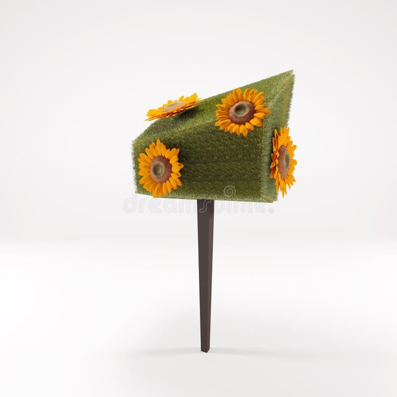 Солнцецвет апельсина 3 d стоковая фотография