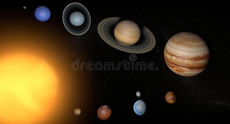 Солнце вселенной космоса планет солнечной системы бесплатная иллюстрация