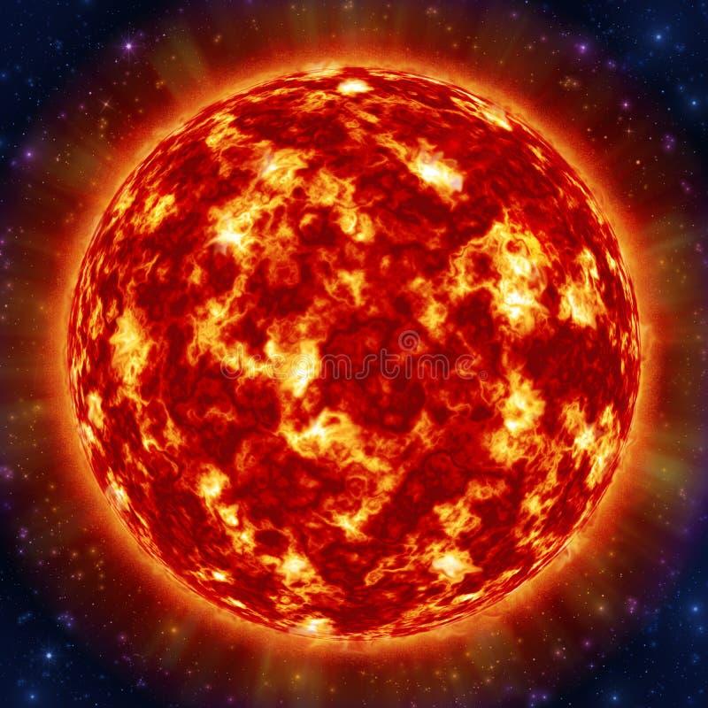 Солнце в космосе иллюстрация штока