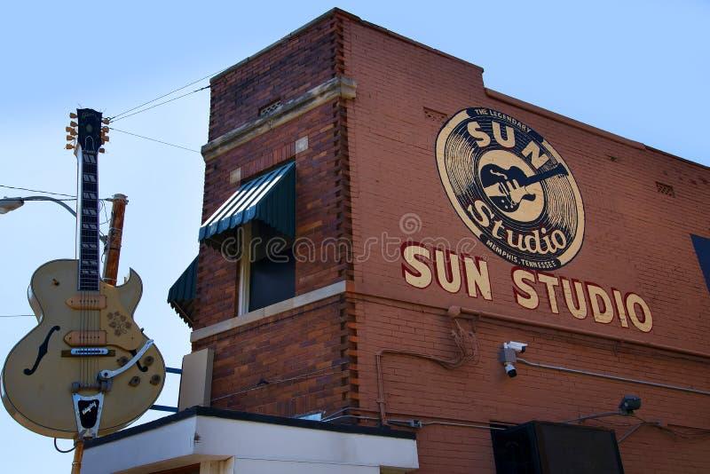 Солнце записывает студию раскрытую пионером Сэм Phillips рок-н-ролл в Мемфисе Теннесси США стоковые изображения