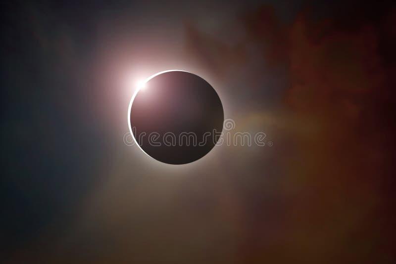 солнце затмения полное стоковые изображения