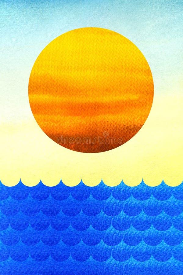 Солнце и море бесплатная иллюстрация