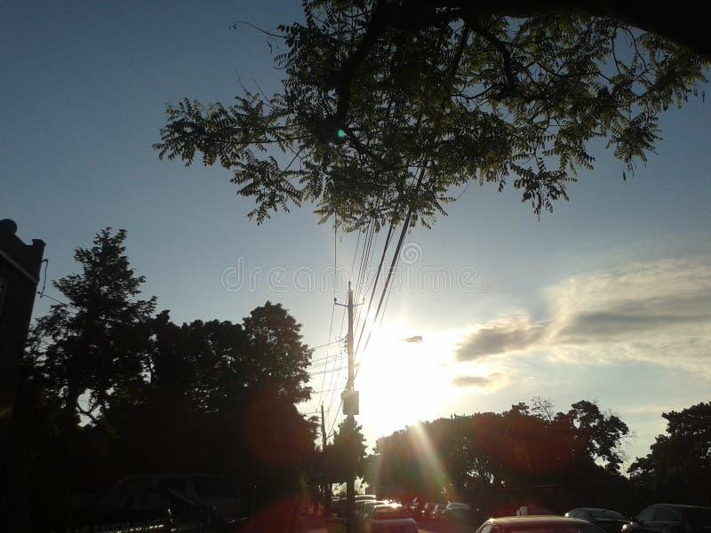Солнце на своя самой яркой стоковая фотография rf