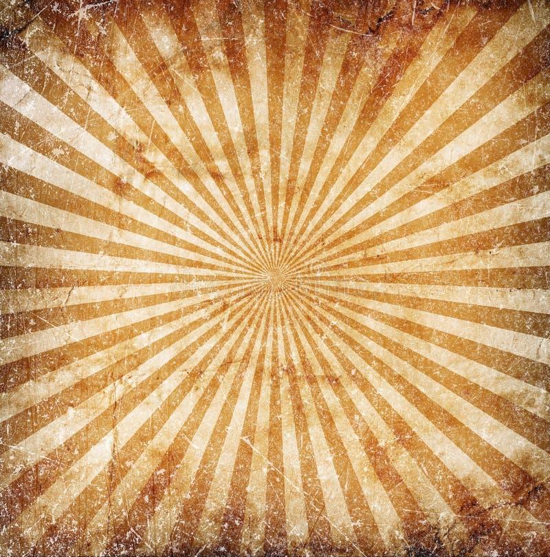 Солнце Grunge излучает предпосылку стоковое изображение