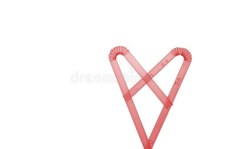 Солома в форме сердца стоковое фото