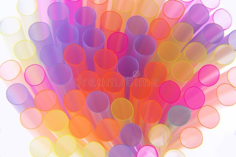 Соломы много цветов стоковые фото