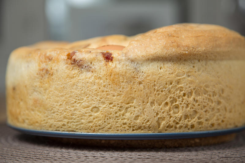 Солёный торт: Tortano Napoletano o Casatiello стоковая фотография rf