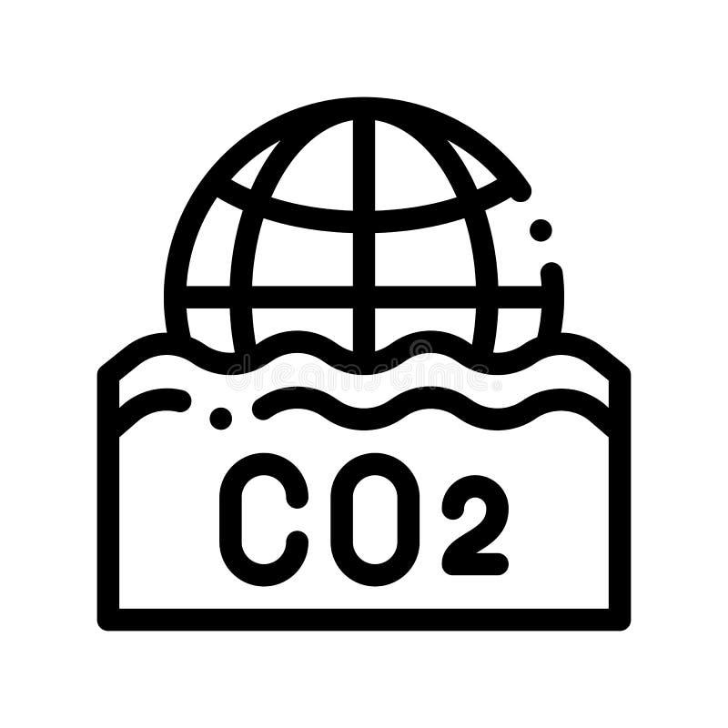 СО2 Smoulder линия значок вектора пара дыма тонкая бесплатная иллюстрация