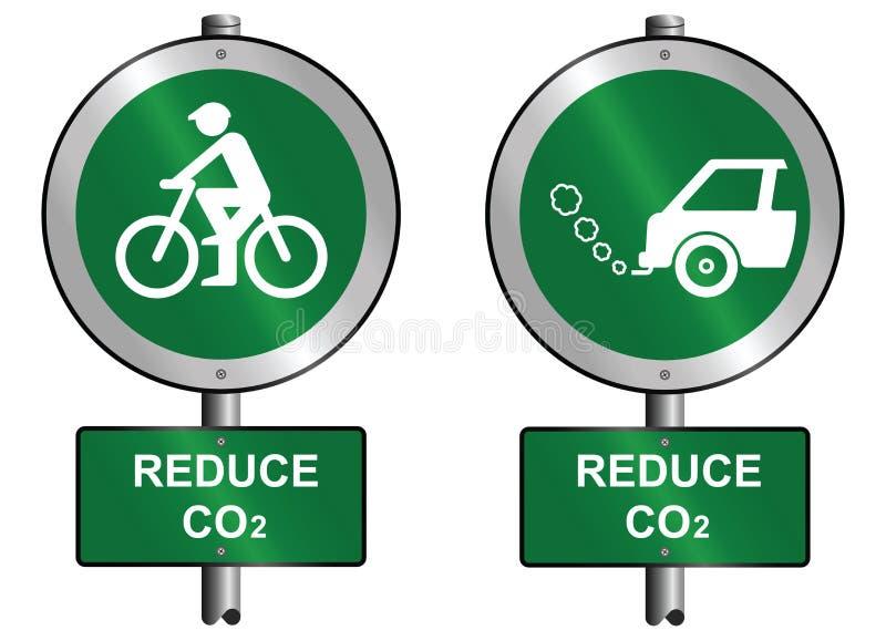СО2 уменьшает бесплатная иллюстрация