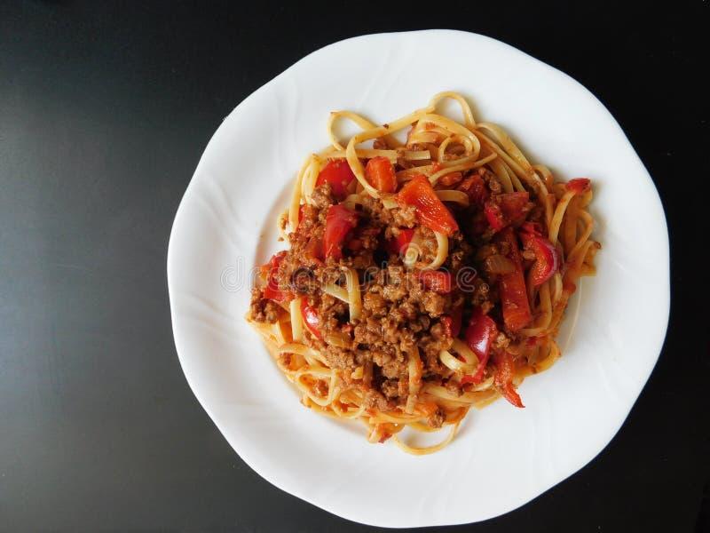 Спагетти всегда превосходно! стоковая фотография rf