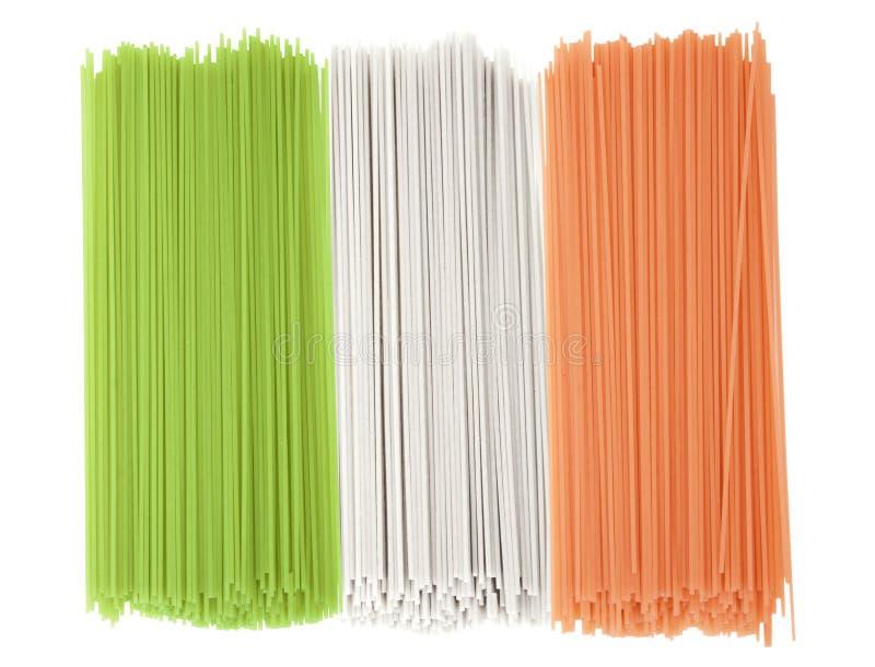 спагетти Италии флага стоковое изображение rf
