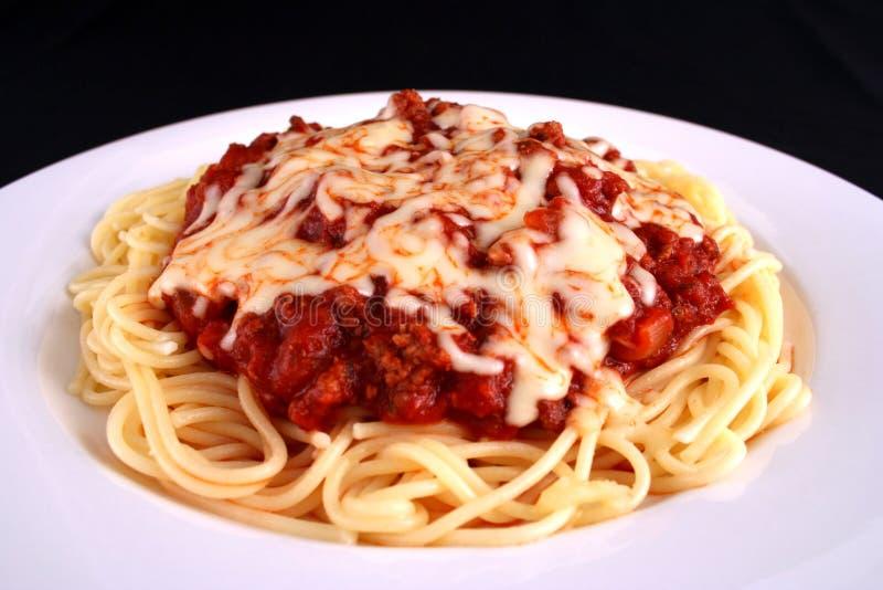 спагетти плиты стоковое изображение rf