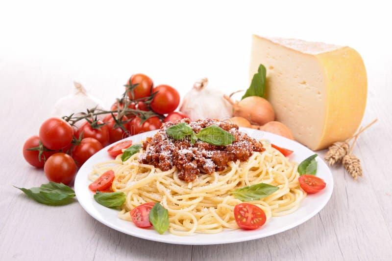 Спагетти с bolognese соусом стоковые фото
