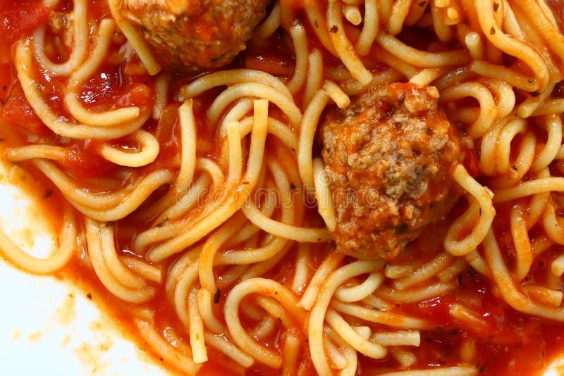 спагетти meatballs стоковые фотографии rf