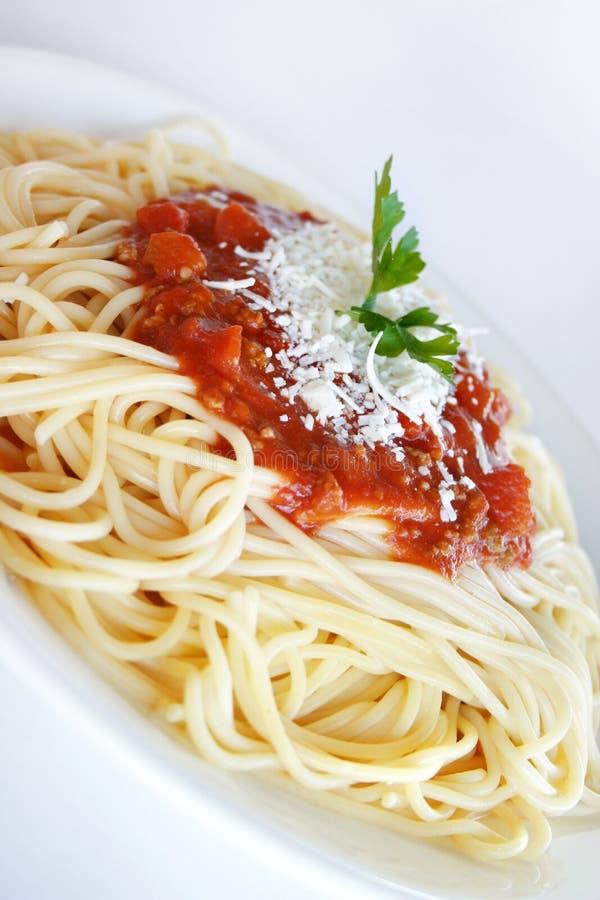спагетти napolitana стоковое изображение