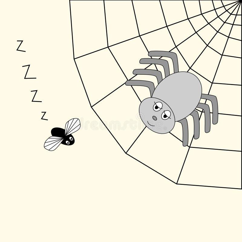 спайдер мухы иллюстрация вектора