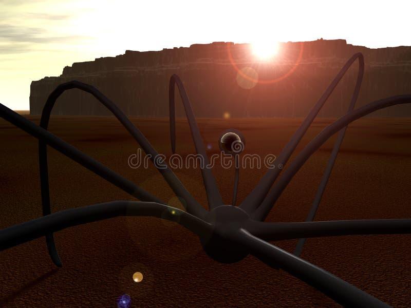 Спайдер 2 чужеземца иллюстрация штока